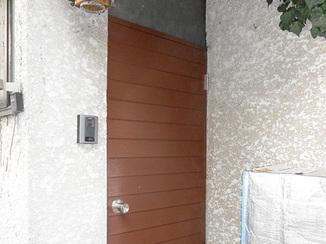 小工事 新品のように輝く玄関ドア