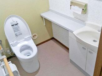 トイレリフォーム 緑が好きなご主人の好みに合わせたトイレ空間