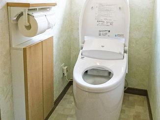 トイレリフォーム 手洗いや収納が使いやすい、明るくすっきり仕上がったトイレ空間