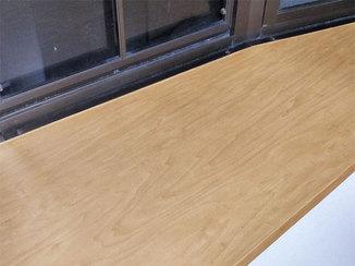 小工事 化粧シートで美しく補修したカウンター